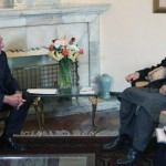 Secretary Panetta Meets With Afghan President Karzai