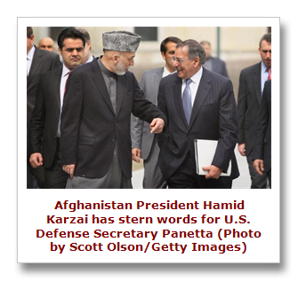 Hamid Karzai and Leon Panetta