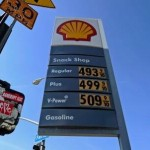 LOS ANGELES, CA - FEBRUARY 23:  Gas prices over four and five dollars are posted on a Shell station on Olympic Boulevard on February 23, 2012 in Los Angeles, California.  President Barack Obama is expected to unveil his plan for keeping fuel prices down during a speech at the University of Miami today.  (Photo by Kevork Djansezian/Getty Images)