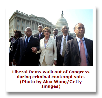 Dems walk out while Holder found in contempt