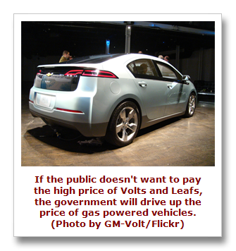 Gas efficiency standards to sell Volt
