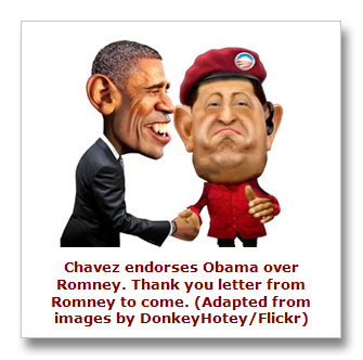 Hugo Chavez and Barack Obama