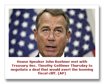 Boehner on fiscal cliff