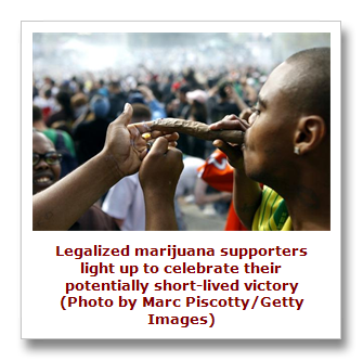 Leagalized marijuana supporters